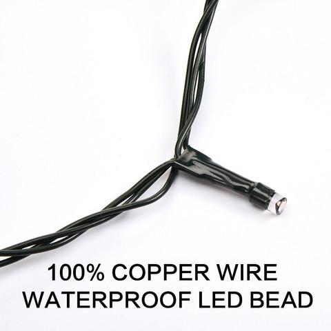 светодиод тепло белый гирлянды нить led 5 метров улица
