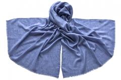 Палантин голубо-серый из вискозы 2154