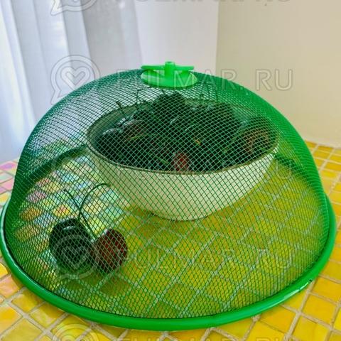 Крышка-сетка для продуктов d=24 см Зеленая