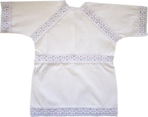 Папитто. Крестильная рубашечка с гипюром
