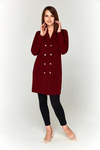 Бордовое платье-пиджак Lolly из креп-дайвинга