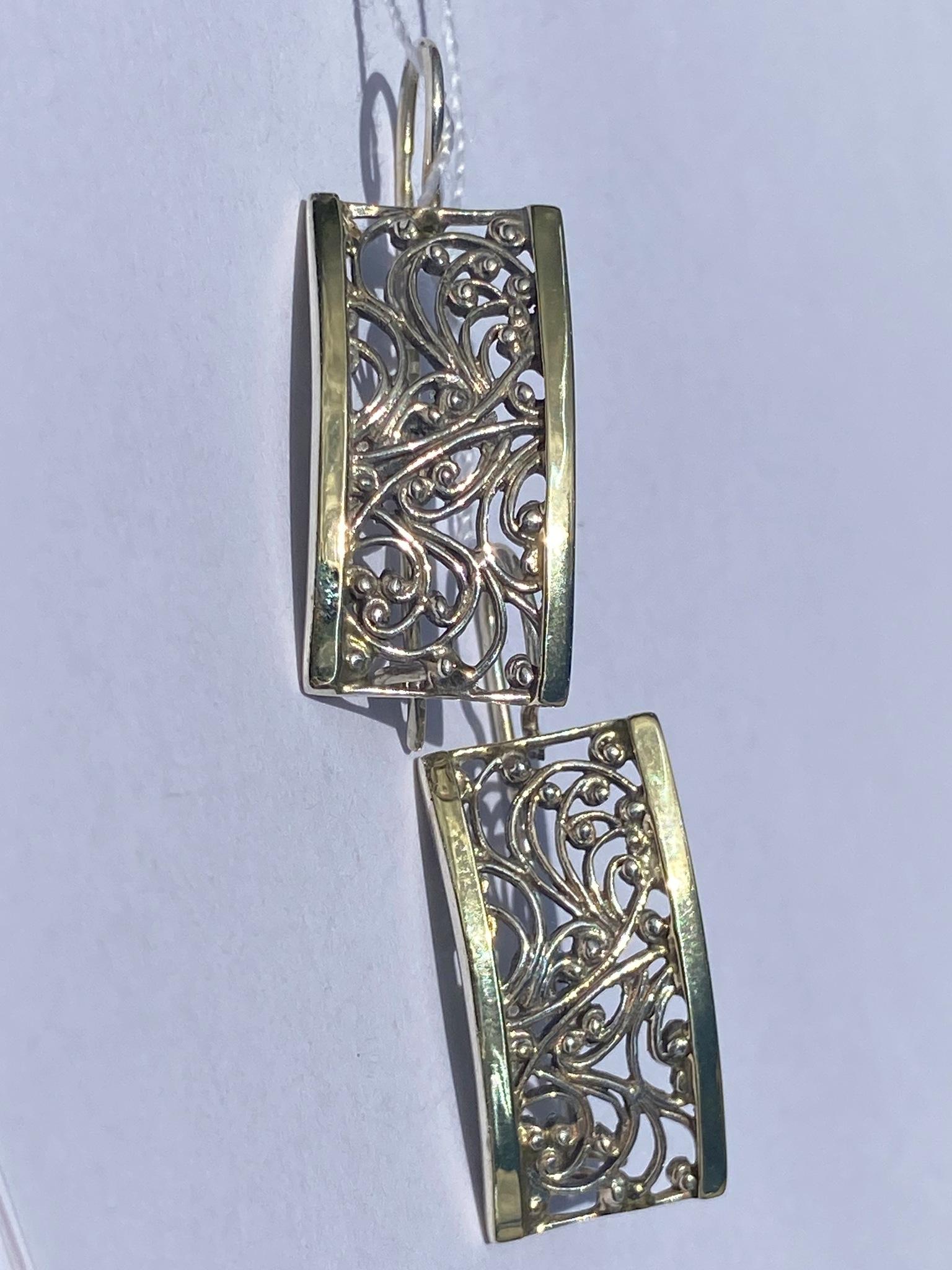 Зернь 1130б(серьги из серебра/золота)