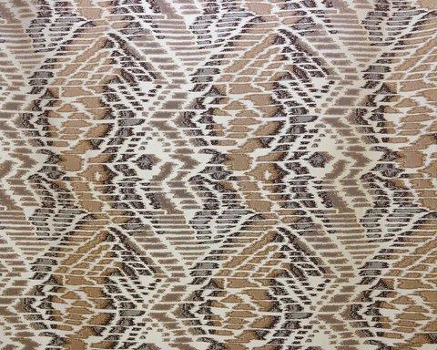 Портьерная ткань в современном стиле Кальман бежево-коричневый