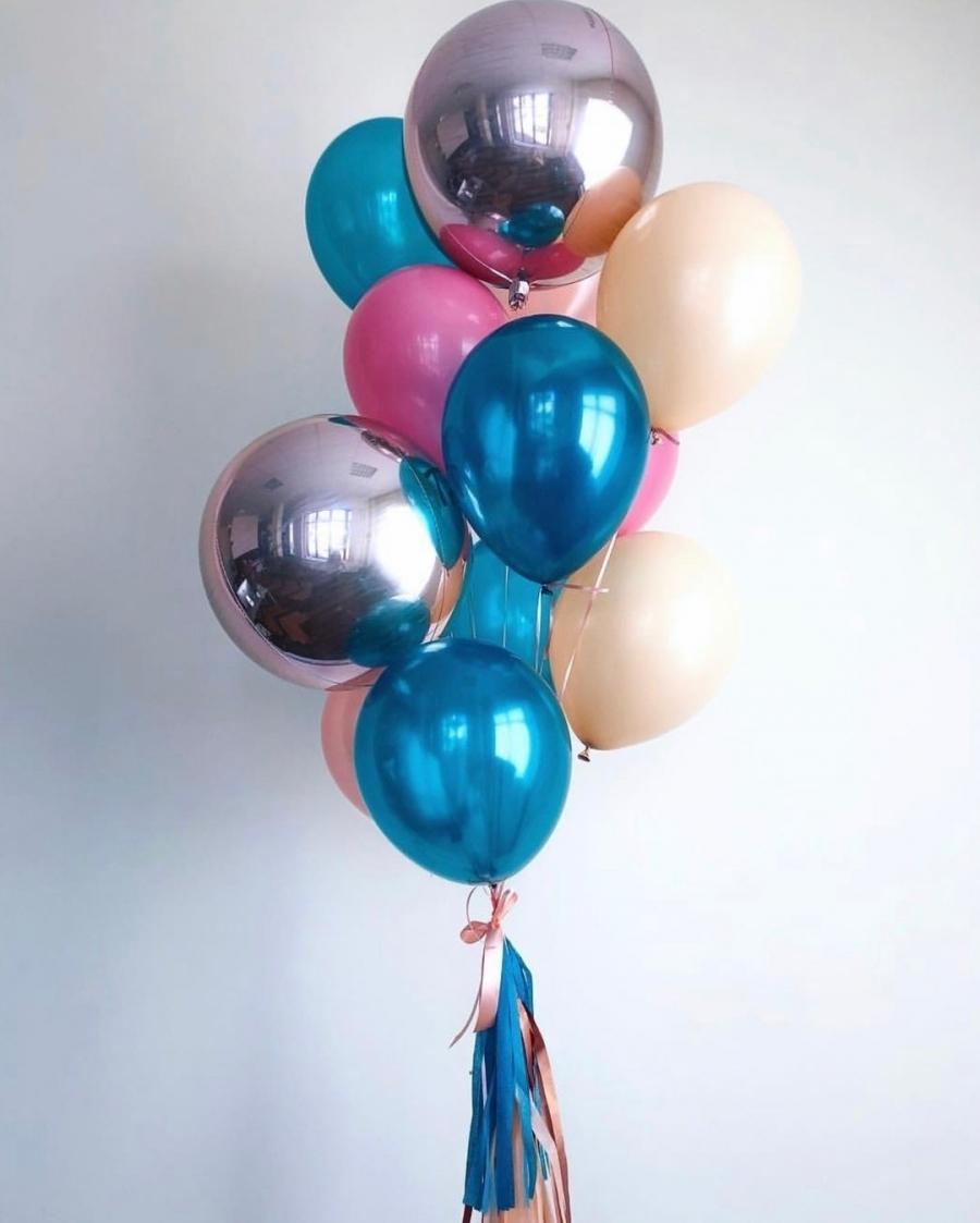 Букеты из шаров Набор шариков с гелием Яркий праздник на_8_марта_8.jpg