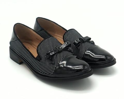 511ц Туфли жен с лаковым декором