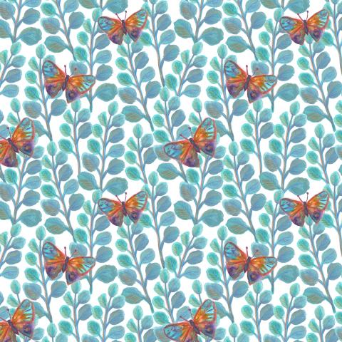 Бабочки в листве