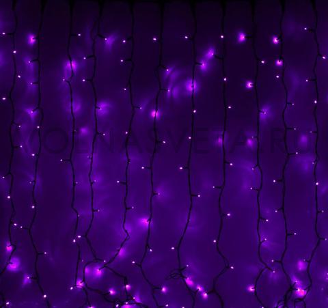 Гирлянда светодиодный занавес фиолетовая, 2x3м, LED-760-220V