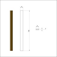 Брусок шлифовальный алмазный 125/100. Размер 6х150 мм.