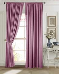 Длинные шторы. Луи (тёмно-розовый). Шторы из стриженного бархата.