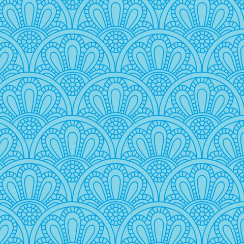 Узорчатые волны. Синие линии на голубом