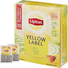 Чай Lipton Yellow Label черн. 150 пакx2гр/уп
