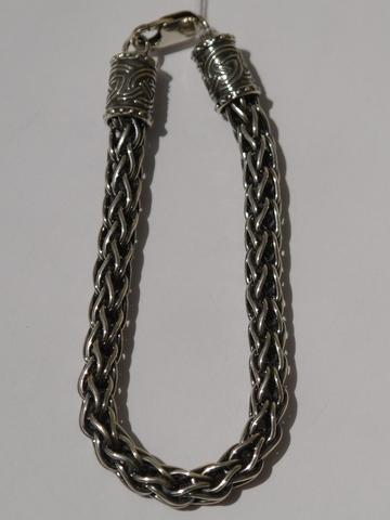 Лисий хвост 0,6 см.(серебряный браслет)