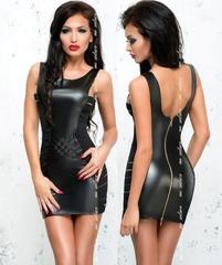 Сексуальное платье на молнии сзади Lea