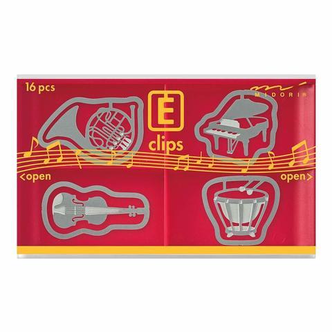 Скрепки Midori E-Clips Musical Instruments (16 шт)