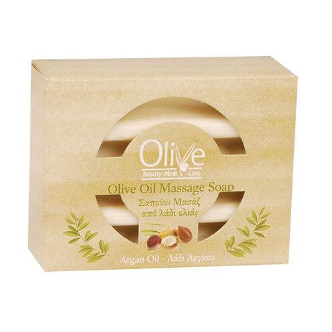 Массажное оливковое мыло с аргановым маслом Olive Beauty Medi Care 100 гр