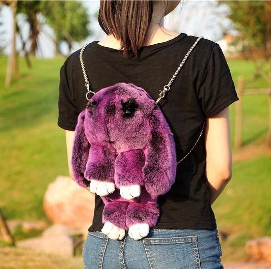 Рюкзак кролик (зайка) из натурального меха