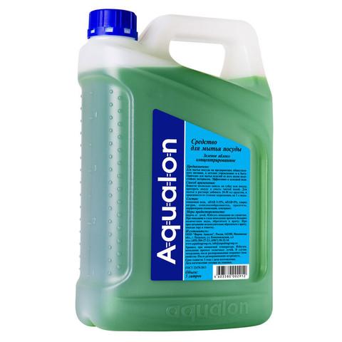 Средство для мытья посуды Aqualon Зеленое яблоко 5 л (концентрат)
