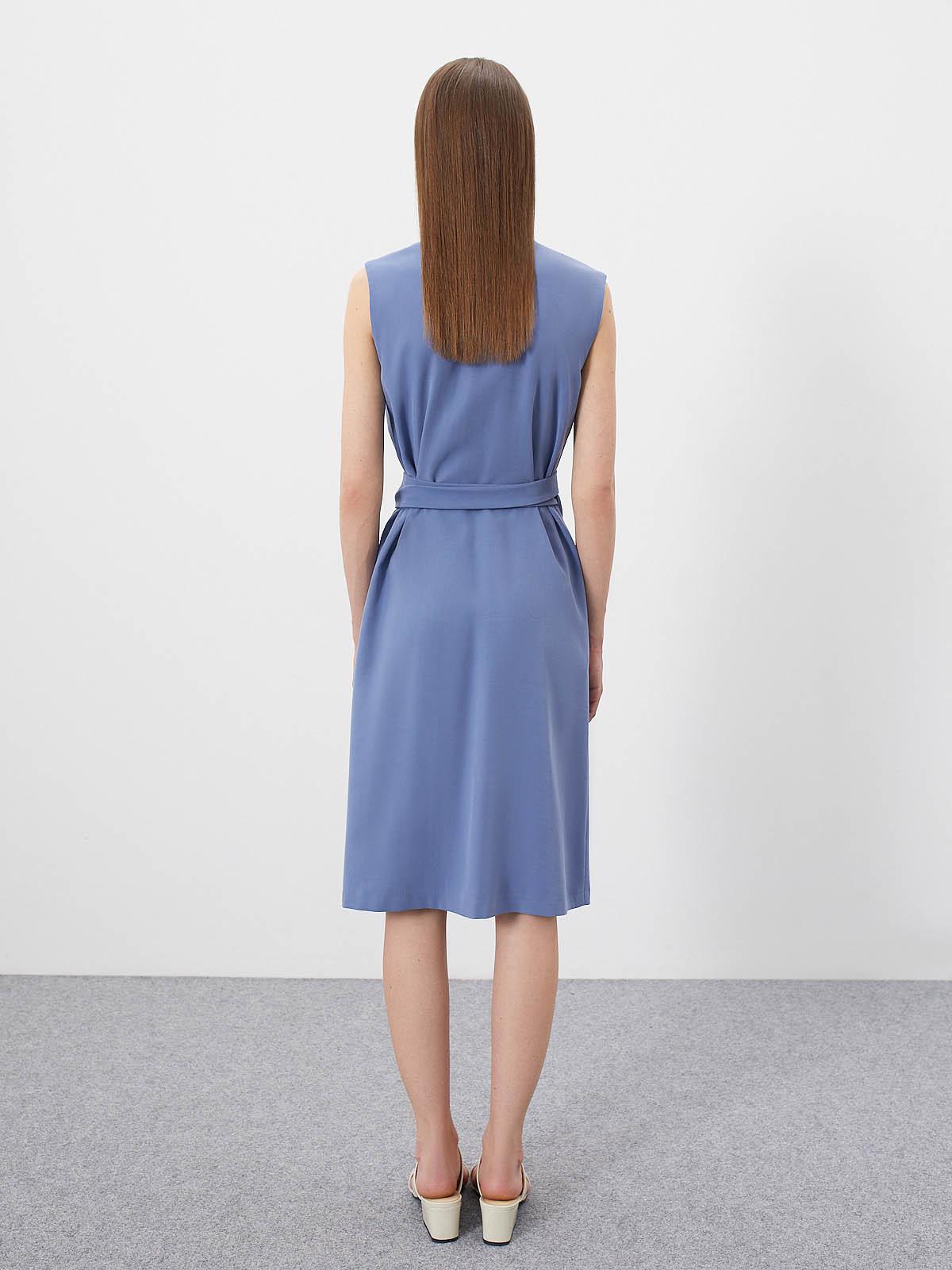 Платье Garnet без рукавов на запах, Голубой