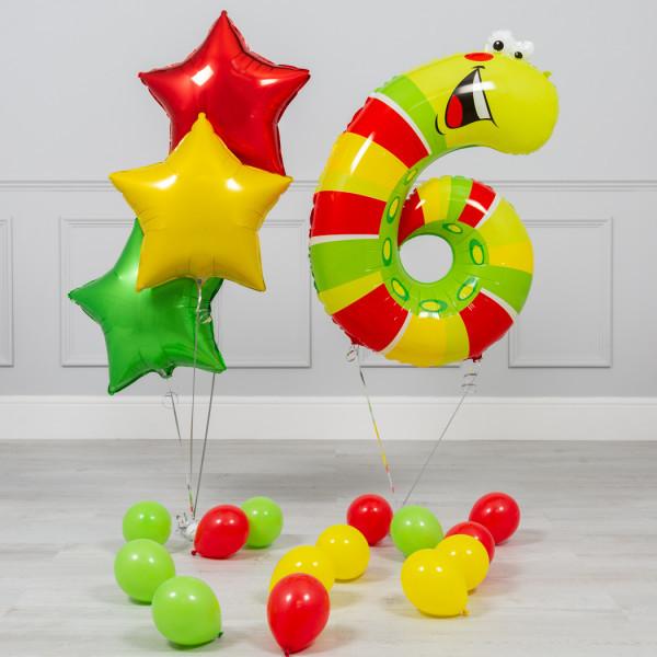 Фонтаны из шаров с цифрой Набор надувных шариков с цифрой 6 web-res-animal-number-package-6.jpg