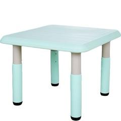 пластиковый регулируемый квадратный стол, 60х60см, бирюзовый (голубой)
