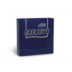Салфетки бумажные Aster Creative 24x24 см синие 3-слойные 20 штук в упаковке
