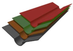 Ондулин Ендова 1000мм коричневый