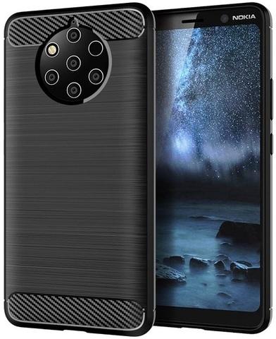 Чехол Nokia 9 PureView цвет Black (черный), серия Carbon, Caseport