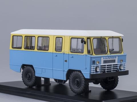 GAZ-66 AMS-66 Army Bus yellow-blue 1:43 Start Scale Models (SSM)