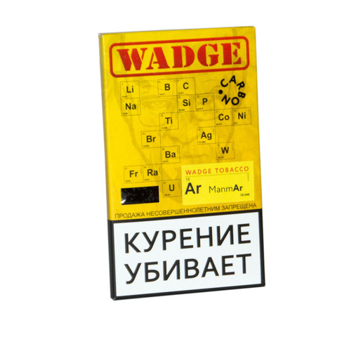 Табак WADGE CARBON 100gr Manmar