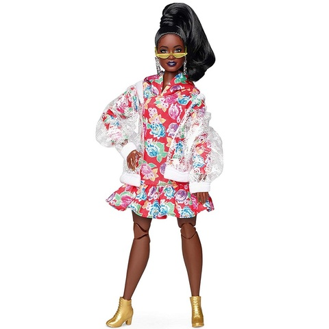 Барби BMR1959 Брюнетка в прозрачной куртке и платье с капюшоном