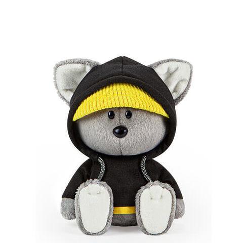 Волчонок Вока в черной толстовке с капюшоном (Лесята Budi Basa)