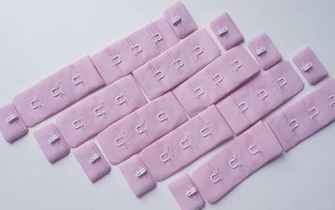 Застежка, 1х3, 1,5 см, розовая иллюзия, шт