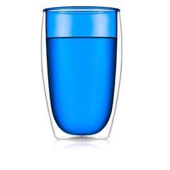 Стакан с двойными стенками цветной 450 мл, синий