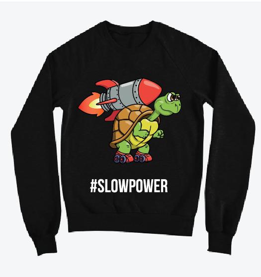 Свитшот Slowpower, черный