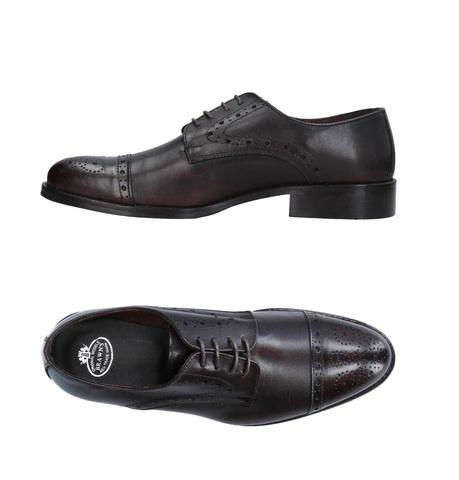 Тёмно-коричневые кожаные cap-toe оксфорд броги Brawn's Made in Italy