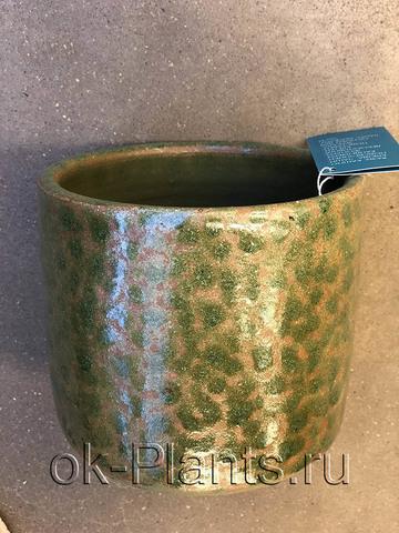 Кашпо Керамика болотно-коричневое