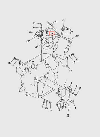 Прокладка  для лодочного мотора T15, OTH 9,9 SEA-PRO (9-9)