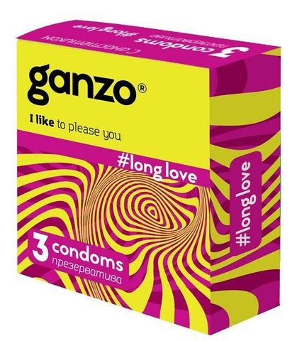 Презервативы GANZO  LONG LOVE, No3 (С анестетиком, 3шт. в упак.)