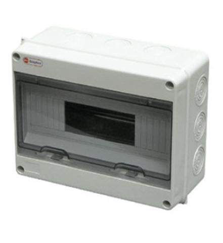 Щит распределительный на стену, на 18 модулей 198х365х108мм IP65. Ecoplast (Экопласт). 46418