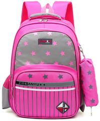 Рюкзак школьный Ziranu 1811 Розовый + Пенал