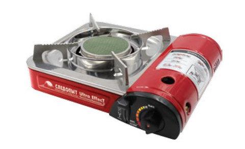 Газовая плитка Следопыт UltraEffect керамическая с переходником PF-GST-IM03
