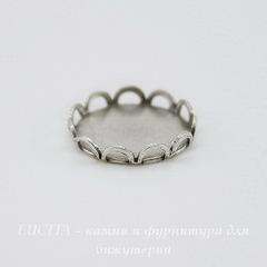 Сеттинг - основа для камеи или кабошона 11 мм (оксид серебра)