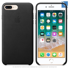 Чехол Apple iPhone 8 Plus Leather Case Black черный клипкейс
