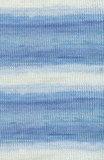 Пряжа Alize Baby Wool Batik бело-голубой 3564