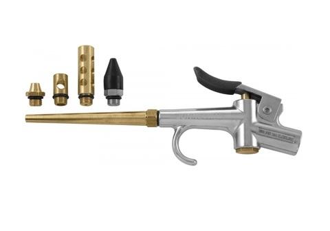 JAT-6904S Пистолет продувочный с насадками, 5 предметов