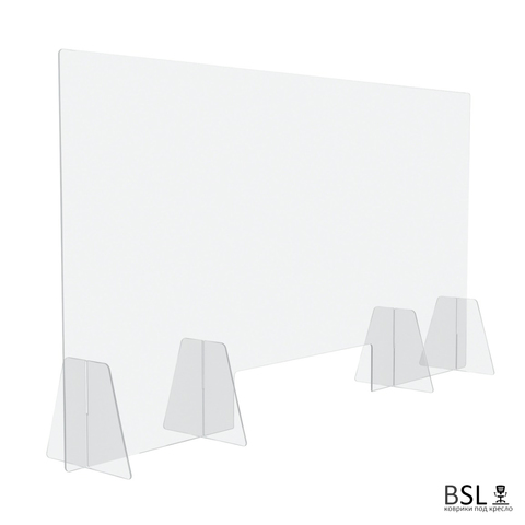 Настольный экран с окном Ш.1400 мм В.600/750 мм