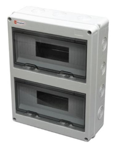 Щит распределительный на стену, на 24 модуля 355х275х108мм IP65. Ecoplast (Экопласт). 46424