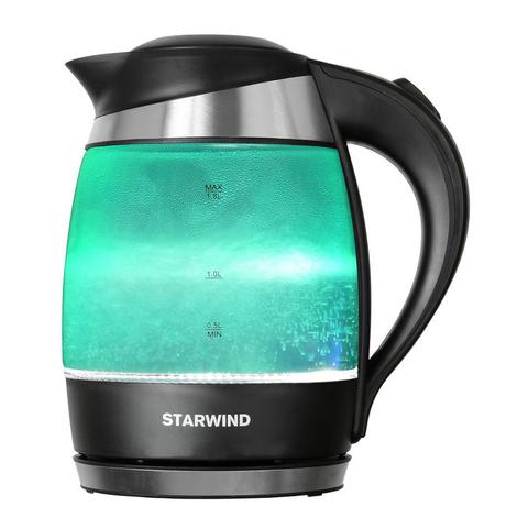 Чайник электрический Starwind (1,8 литра) 2200 Вт, LED подсветка, бирюзовый