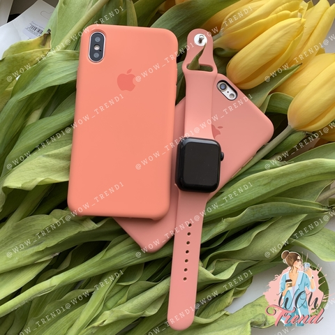 Ремешок Apple watch 38/40mm Sport Band /flamingo/ фламинго