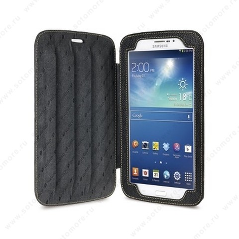 Чехол-книжка Melkco для Samsung Galaxy Tab 3 7.0 P3200/ P3210 Leather Case Kios Type with 3 - Angle Stand (Black LC) Ver.2